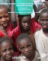 Water, Sanitation and Hygiene Education for Schools - Development