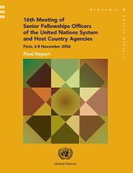 16th Meeting of Senior Fellowships Officers of the ... - Development