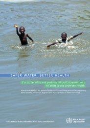 Safer water, better health - libdoc.who.int - World Health Organization