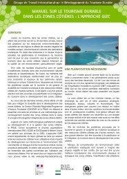 manuel sur le tourisme durable dans les zones côtières