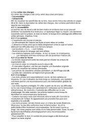 4.2 Le cahier des charges Ce cahier des charges a ... - L'esprit Livre