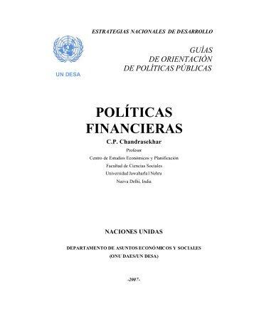 POLÍTICAS FINANCIERAS - Development - ONU