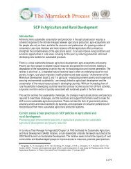 SCP in Agriculture and Rural Development