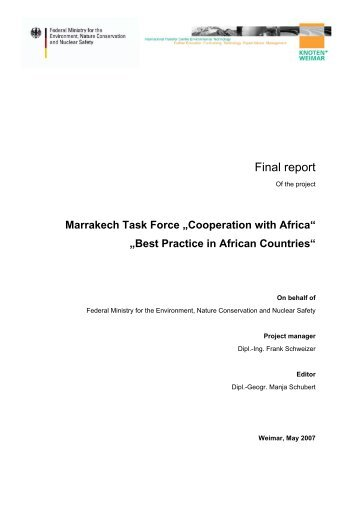Best Practice in African Countries - UNEP