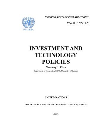 Investment Technology Policy Note Final - Development
