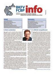 Zur aktuellen Ausgabe - Bernisch Kantonaler Fischereiverband