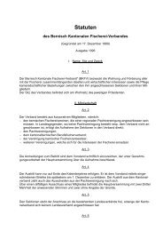 Statuten - Bernisch Kantonaler Fischereiverband