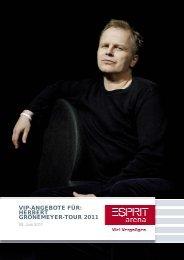 vip-angebote für: herbert grönemeyer-tour 2011 - Esprit Arena