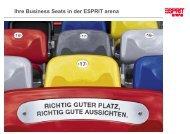 Ihre Business Seats in der ESPRIT arena