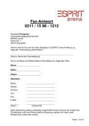 Fax-Antwort 0211 / 15 98 - 1212 - Esprit Arena