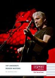 Ihr exklusives VIP-Angebot zu Roger Waters - Esprit Arena