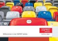 klicken um die Broschüre herunterzuladen - Esprit Arena