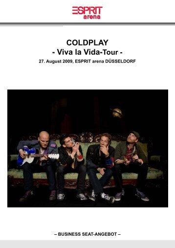 COLDPLAY - Viva la Vida-Tour - - Esprit Arena
