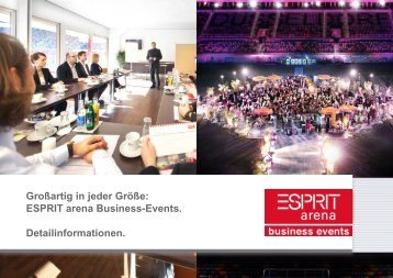 Platz für gute Kontakte. Business Events in der ESPRIT arena.