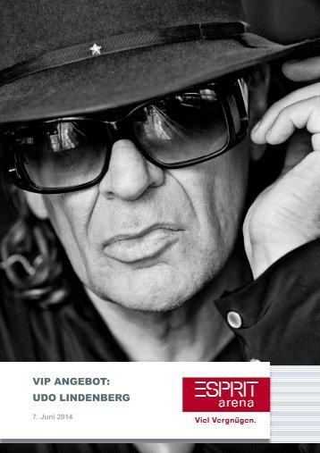 Ihre VIP-Angebote fürdas Konzert von Udo ... - Esprit Arena
