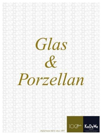Glas Porzellan - KaDeWe