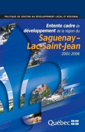 Saguenay– Lac-Saint-Jean - mdeie - Gouvernement du Québec