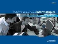 Industrie des services informatiques - mdeie - Gouvernement du ...