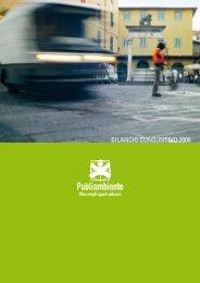 BILANCIO CONSUNTIVO 2006 - Publiambiente SpA