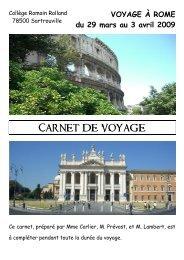 Carnet de voyage à Rome - Créer son blog