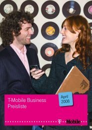 T-Mobile Business Preisliste
