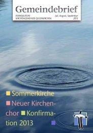 Gemeindebrief Jul.- Sept. 2013(PDF) - Evangelische-kirche ...