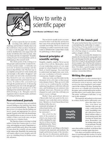 How to write a scientific paper By Prof  Dr  Khadiga Gaafar