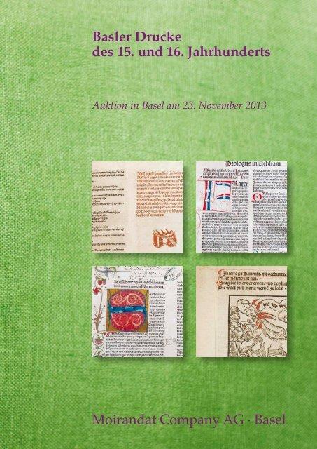 "Katalog Auktion 10: ""Basler Drucke"" (PDF, niedrige Auflösung, 4 MB)"