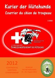 Kurier 2012-1 - Swiss sheep dog society