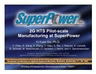 2G HTS Pilot-scale Manufacturing at SuperPower