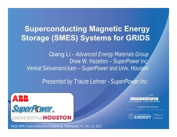 Superconducting Magnetic Energy Storage (SMES ... - SuperPower