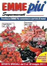 OFFERTE SPECIALI: dal 5 al 18 maggio 2011 - SuperPrezzi.Roma