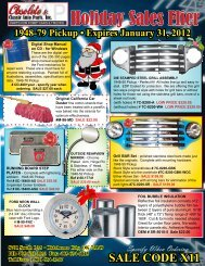 Holiday Sales Flier - Classic Auto Parts