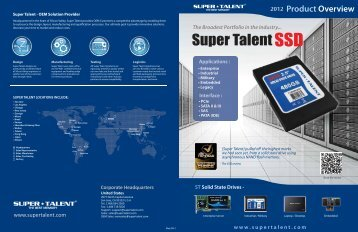 2012-2 Product Overview - Super Talent