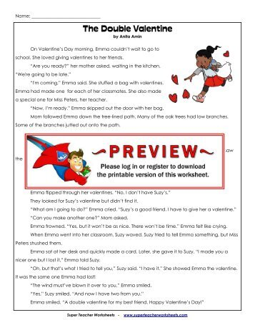 Valentines Day Letter MixUp Primary  Super Teacher Worksheets