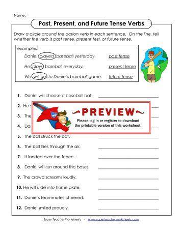 Super Teacher Worksheets Verbs - Synhoff