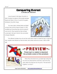 Mount Everest - Super Teacher Worksheets