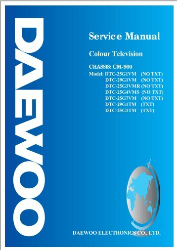 service manual lcd tv chassis model daewoo rh yumpu com Plasma TV Repair Manuals LG LCD TV