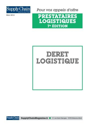 deret logistique - Supply Chain Magazine