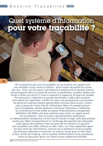 dossier traçabilité - Supply Chain Magazine