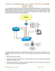 Initial Configuration of a Cisco 1200 802.11g WLAN Access Point