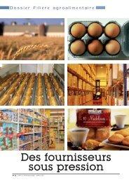 Dossier filière agroalimentaire. Des fournisseurs sous pression