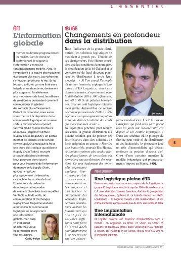 editorial l'essentiel - Supply Chain Magazine