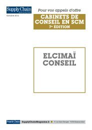 ELCIMAÏ CONSEIL - Supply Chain Magazine