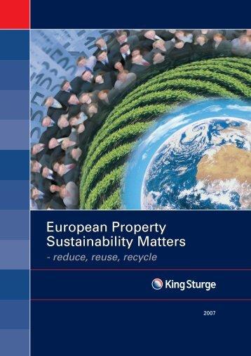 European Property Sustainability Matters European Property ...