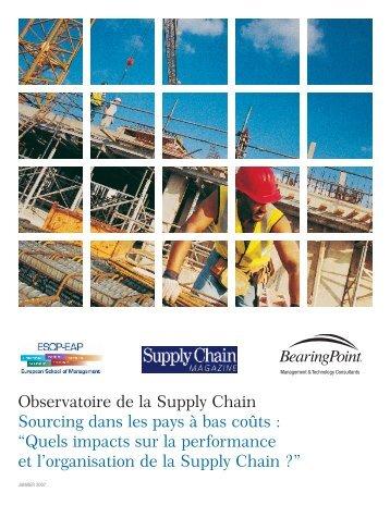 Observatoire de la Supply Chain Sourcing dans les ... - ESCP Europe