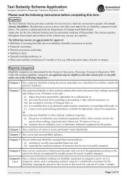 Taxi Subsidy Scheme Application Form Qld - Queensland Government