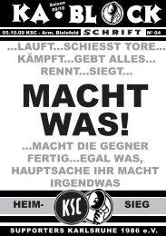 blockschrift 4 - Supporters Karlsruhe 1986 eV
