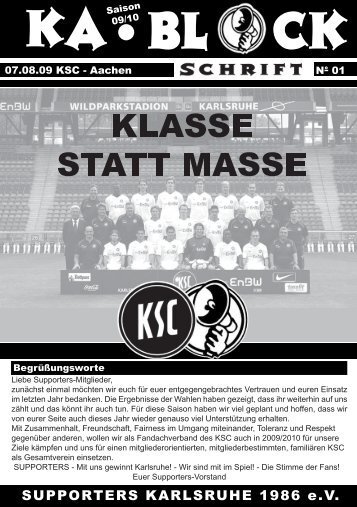 blockschrift 1 - Supporters Karlsruhe 1986 eV