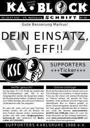 blockschrift 6 - Supporters Karlsruhe 1986 eV